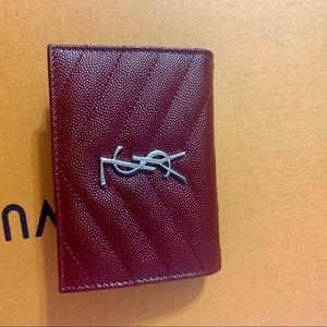 Saint Laurent deep red small wallet